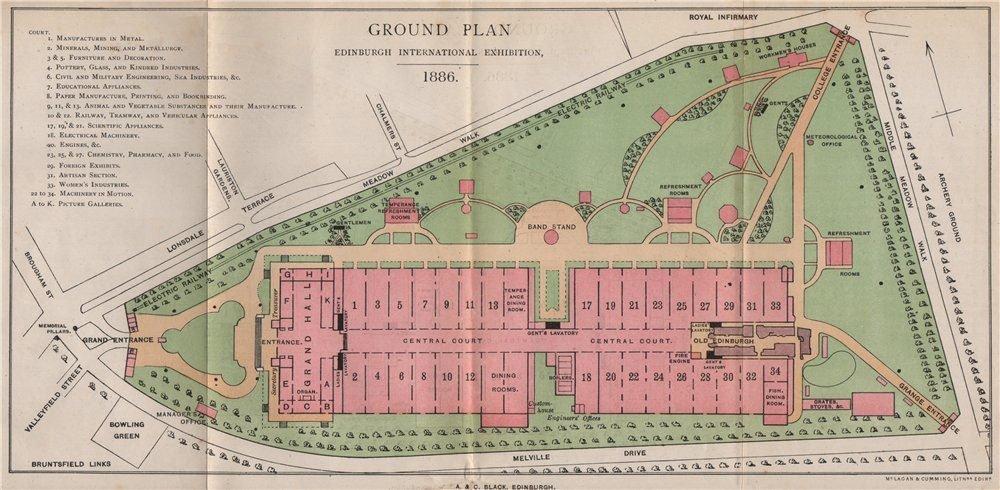 Ground plan of the International Exhibition